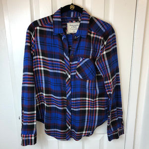 Abercrombie & Fitch blue flannel button down.XS